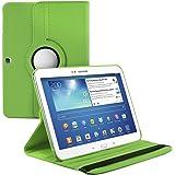 kwmobile Funda 360° para Samsung Galaxy Tab 3 10.1 Carcasa con pie de soporte - Funda protectora para tablet bolso con función de soporte en verde