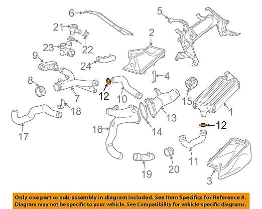 Amazon.com: Porsche OEM 911 Turbo Turbocharger Intercooler-Pressure Hose O-Ring 99610680106: Automotive