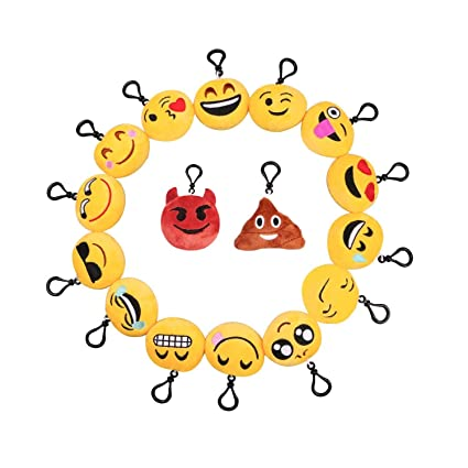 D&&R Llavero Emoji, Relleno Emoji Plush Toy Pillows Mini ...