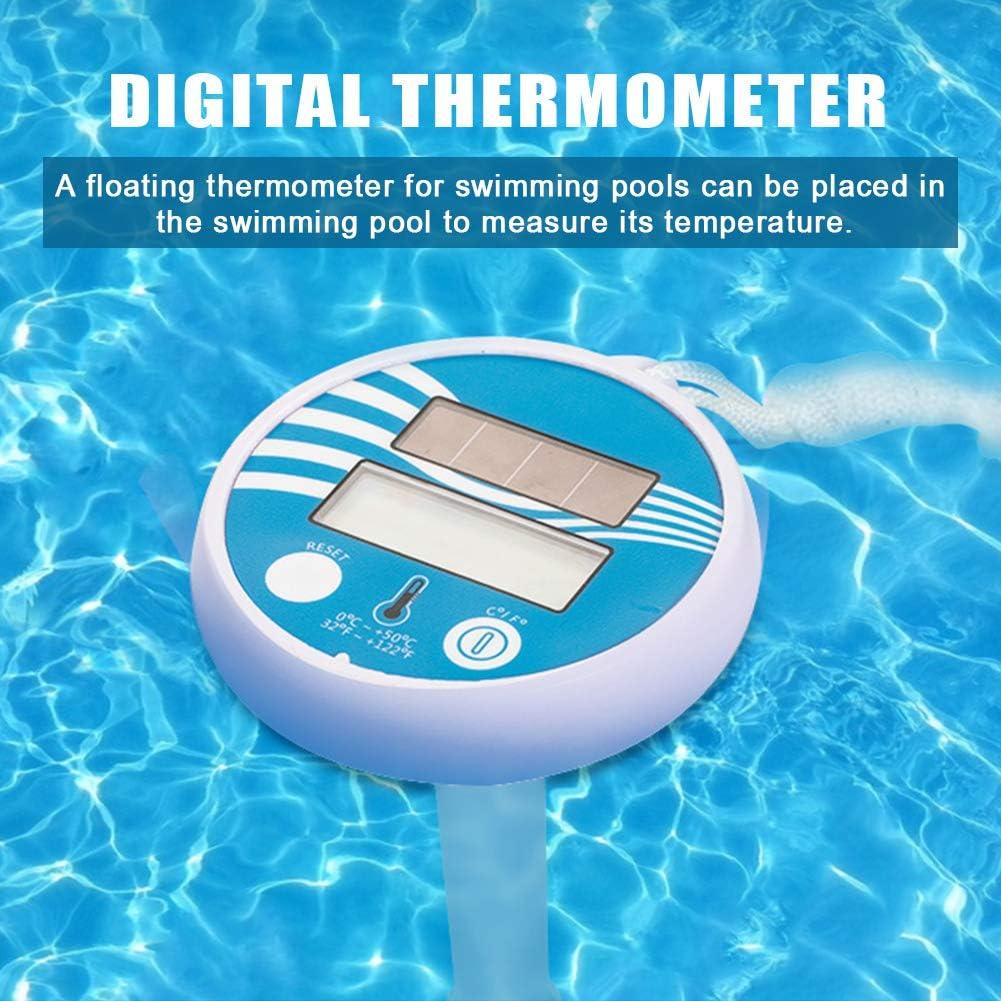 LED Digital Pool Thermometer Sinken Spas Badewasser Solarbetriebene Pool Thermometer Whirlpools Schwimmthermometer B/ücher F/ür Shatter Resistant F/ür Schwimmbecken