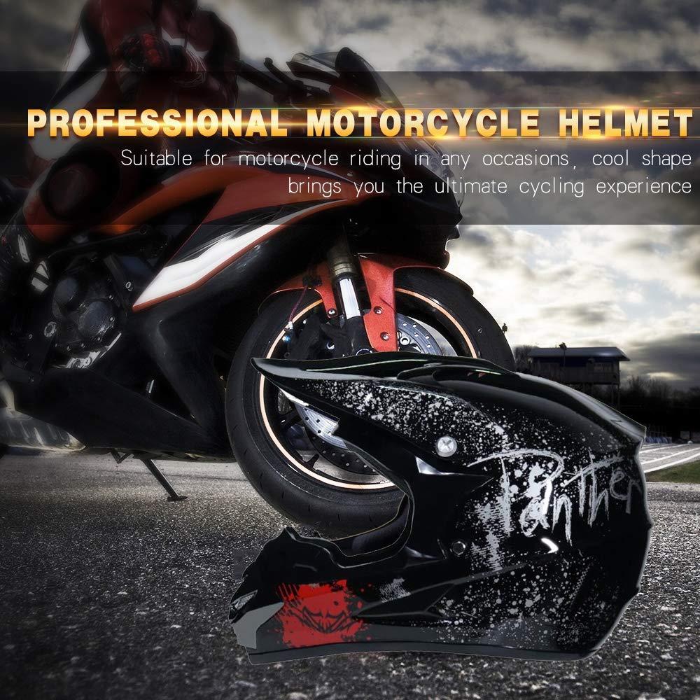 TKUI Casque de Motocross Kit Professionnel Casque de Moto Adultes Off-Road Cross Road Race Casque De Route Unisexe Int/éGral Y Compris des Lunettes//des Gants//Masques