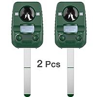 AngLink 2 x Repellente per Gatti Repellente ad Ultrasuoni dissuasore a ultrasuoni per animali, impermeabile e adatto agli ambienti esterni, con batteria a energia solare