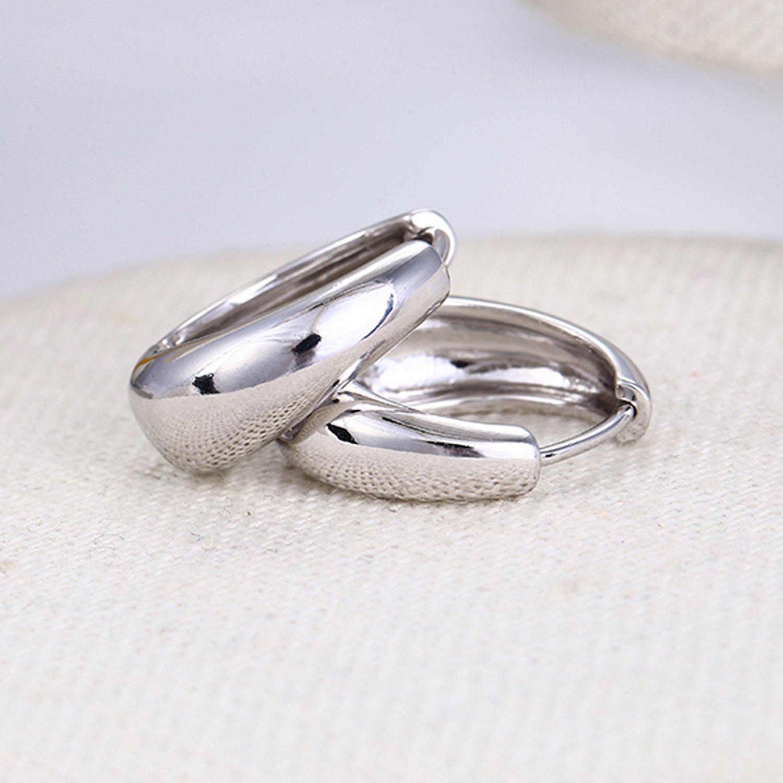 Buy Via Mazzini Salman Khan Inspired Silver Metal Kaju Bali Hoop ...
