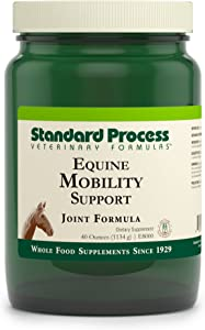 Standard Process Equine Mobility Support - Whole Food Horse Supplies for Antioxidant, Flexibility and Joint Support - Joint Supplement with Ginger Root, Glucosamine Sulfate, Chondroitin Sulfate - 40oz