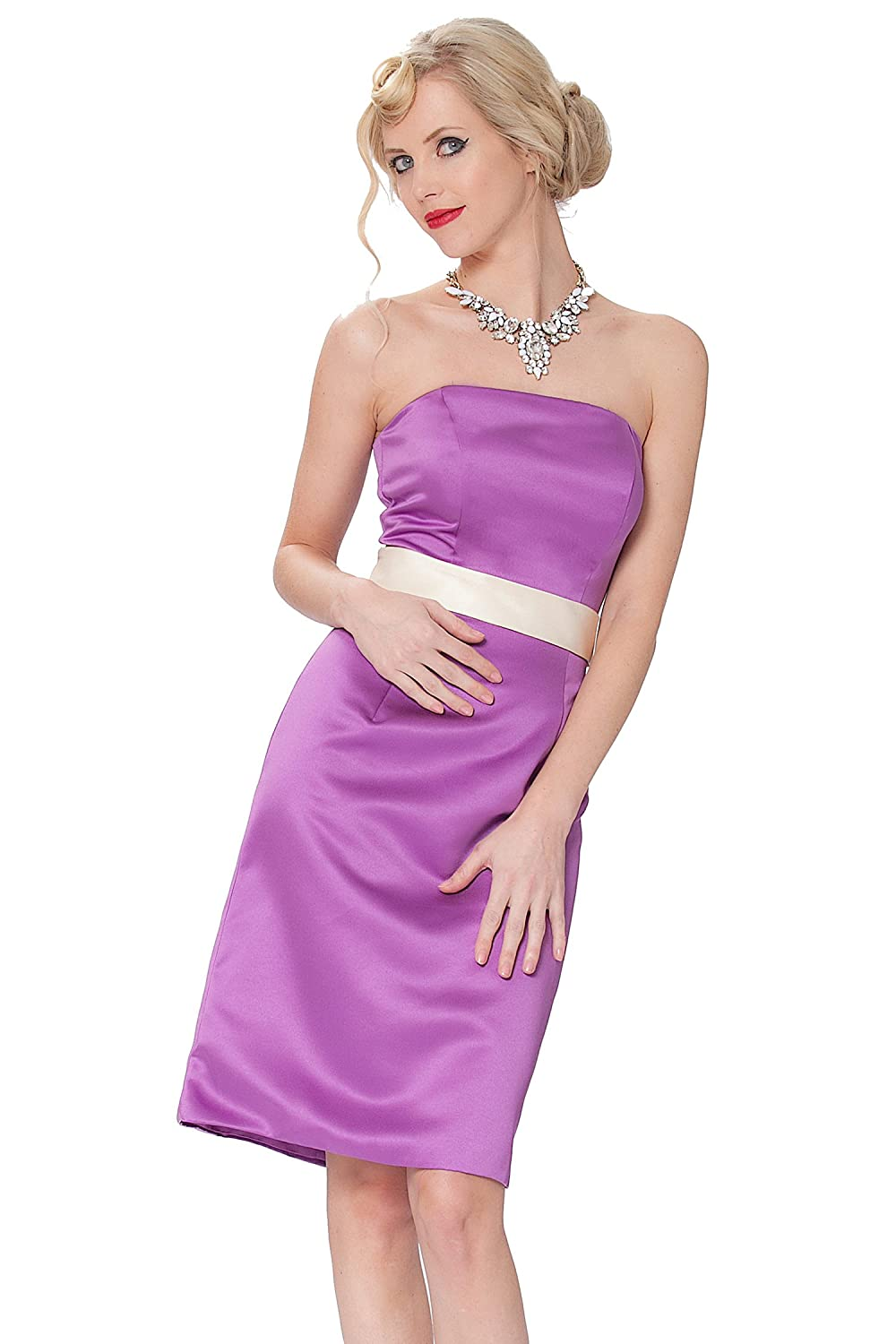 SEXYHER Gorgeous Strapless Knee Length Cocktail Bridesmaids Dress - COJ1524
