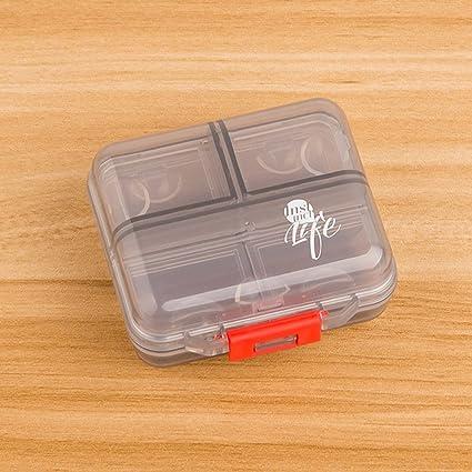 shuxy portátil viaje organizador receta y recordatorio de medicación Semanal 7 Días píldora caja contenedor de