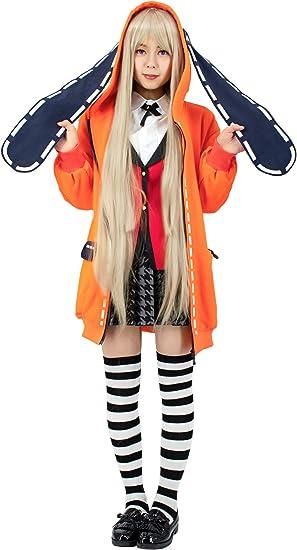 Anime Cosplay Kakegurui Runa Yomozuki Loli Uniform Coat Costume Full Suit Set