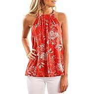 Dearlove Women's Summer Sleeveless Floral Print Cami Tank Tops
