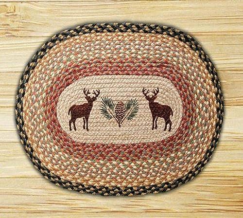 Earth Rugs Rug, 20 x 30 , Burgundy Gray Cr me