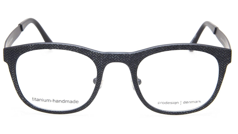 136cb4ee47 Amazon.com  NEW PRODESIGN DENMARK 4384 c.6121 BLACK EYEGLASSES GLASSES  48-22-140 B40mm Japan  Clothing