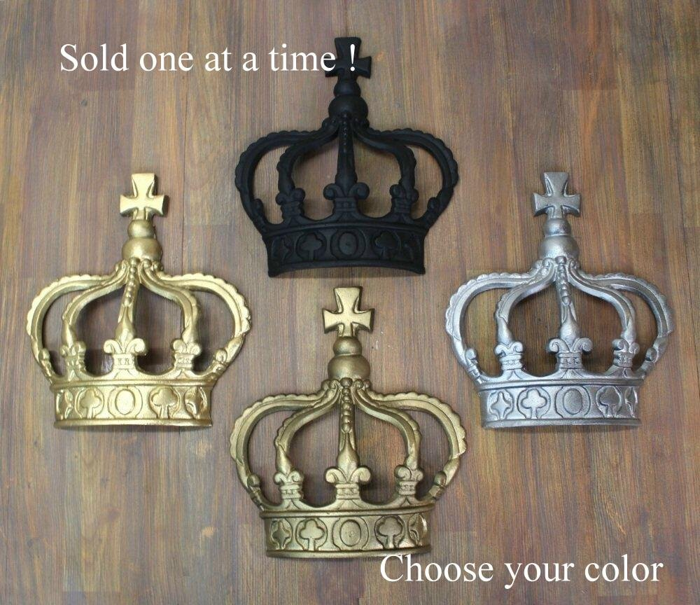 Attirant Amazon.com: Gold Silver Rust King Crown Or Queen Prince Wall Art Princess  Metal England: Home U0026 Kitchen