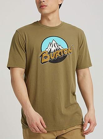 Burton Retro Mtn - Camiseta de Manga Corta para Hombre, Retro Mountain Manga Corta, Hombre, Color Oliva Martini, tamaño Large: Amazon.es: Deportes y aire libre