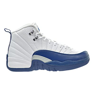 innovative design c7225 491fc Image Unavailable. Image not available for. Color  Jordan 12 Retro Bg Big  Kids Style, White French Blue Metallic Silver,