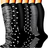 Copper Medical Compression Socks for Women and Men Circulation(6 Pairs)-Best Support for Running, Athletic, Nursing, Travel