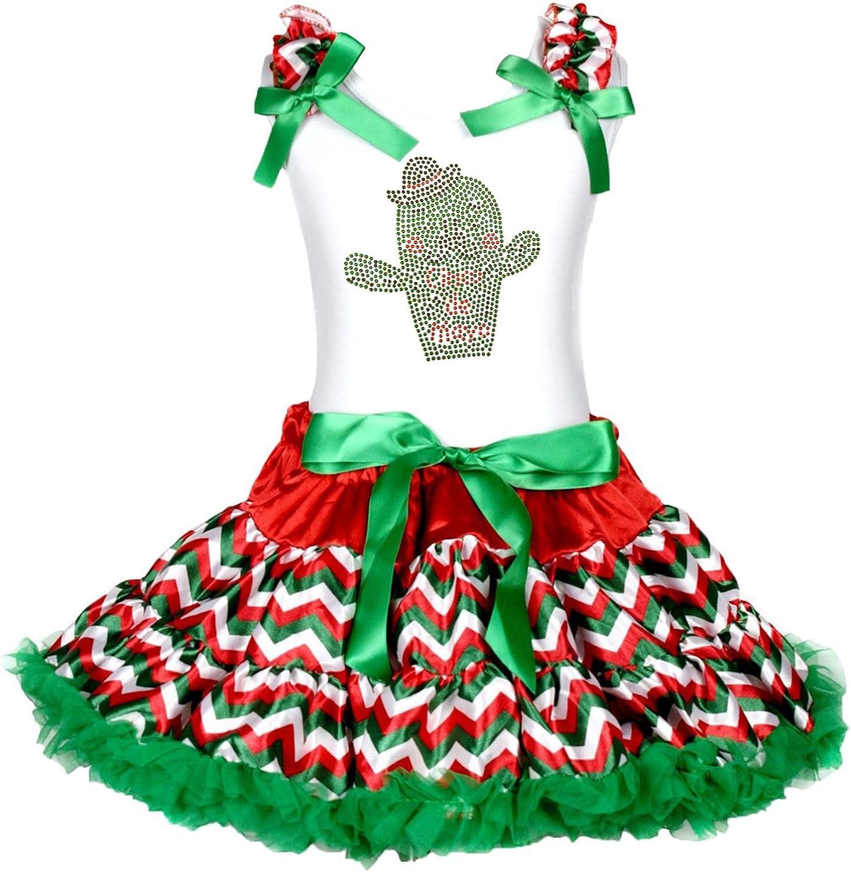 Petitebella Daddys Princess Pink Vest Rainbow Polka Dots Skirt Set 1-8y