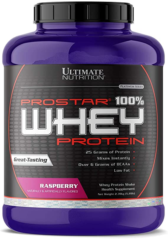 Ultimate Nutrition ProStar Whey Protein, Delicious Raspberry, 5.28 lbs. by Ultimate Nutrition