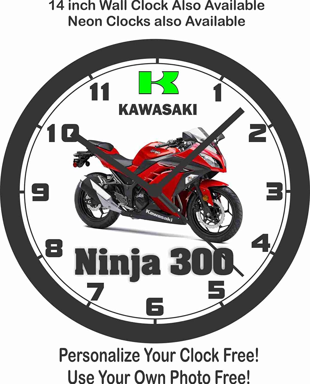 Amazon.com: 2016 KAWASAKI NINJA 300 WALL CLOCK-FREE USA SHIP ...