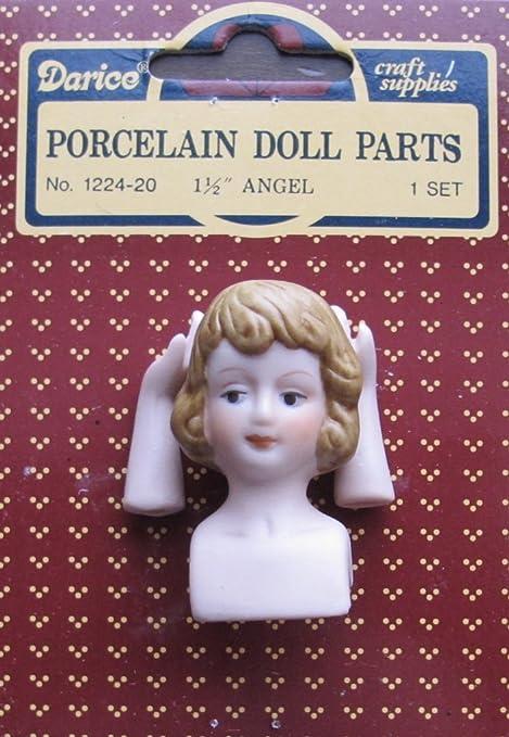 """Set of 2 Porcelain Angel Head /& Hands Set Blonde 1 1//2/"""" New"""