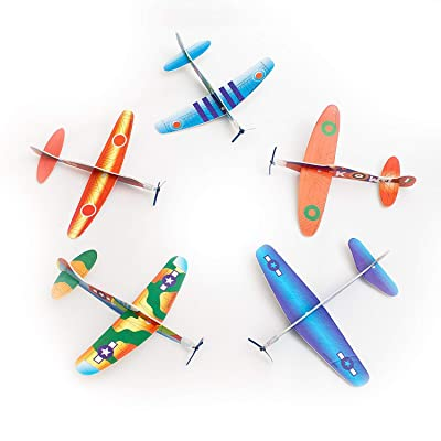 Fun Central 12 Pack - Glider Plane Toys in Bulk for Kids - Assorted Designs: Office Products
