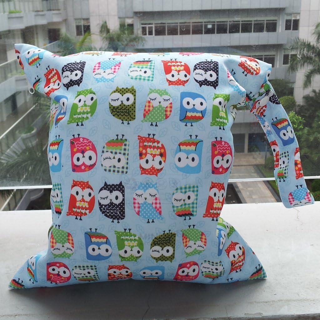 Impermeable Beb/é Bolsa de Pa/ñales Reutilizable Lavable Bolso Organizador de Pa/ñales para Carrito de beb/é Viajar Playa Piscina y Art/ículos de Aseo por SamGreatWorld