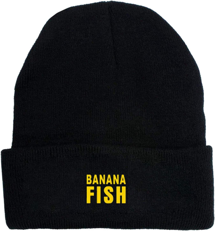 Black 2 gerFogoo Anime Banana Fish Winterh/üte Stickerei Sch/ädel M/ützen Hut Kappe Hip Hop Strickm/ütze