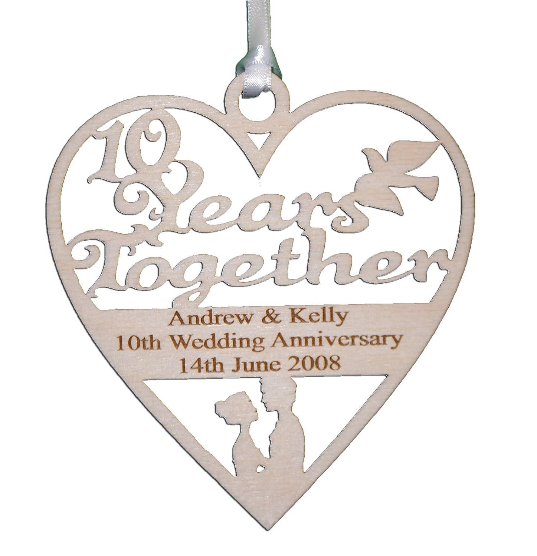 sapphire golden ruby Happy Wedding Anniversary Keepsake Keyring Gift silver