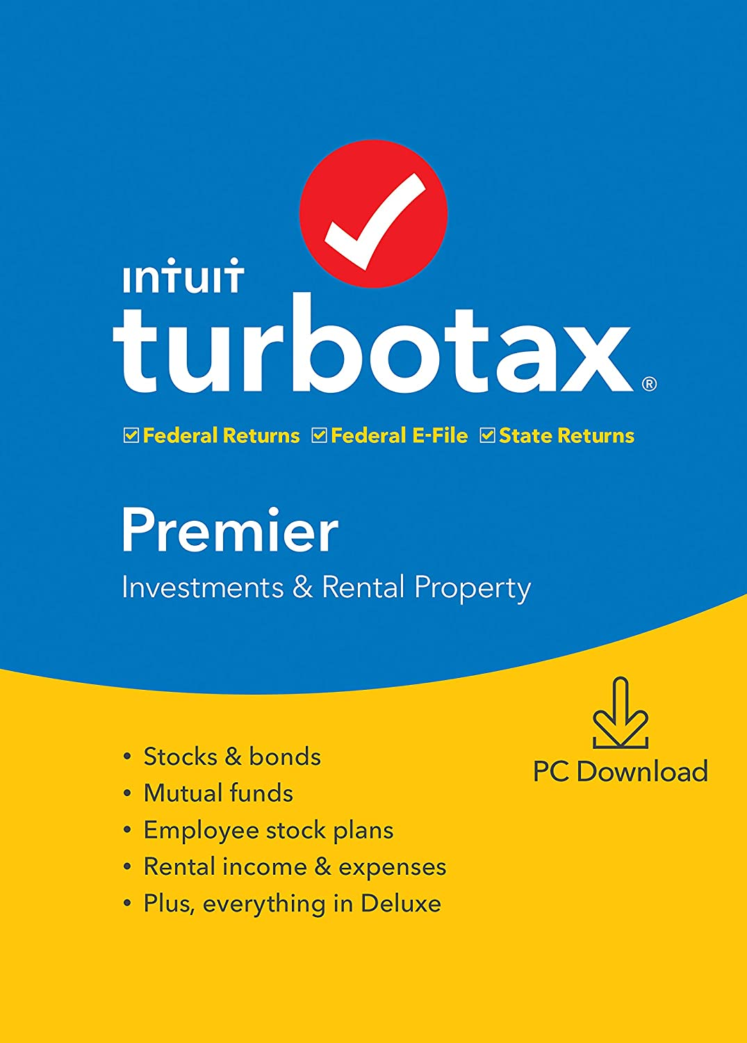 TurboTax Premier + State 2019 Tax Software [Amazon Exclusive] [PC Download]
