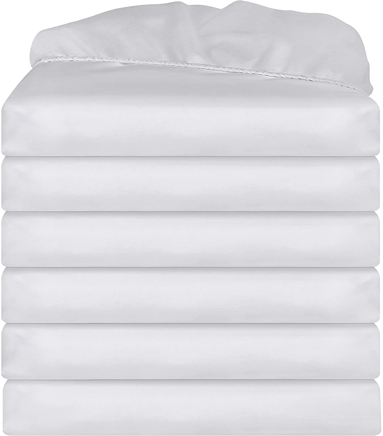Utopia Bedding Twin Fitted Sheet - White (6 Pack)