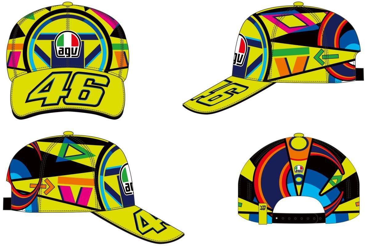 VR46 Gorra Béisbol Valentino Rossi Cap Replica Casco Helmet: Amazon.es: Coche y moto