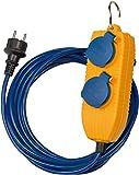 Brennenstuhl 1161750010 Verlängerungskabel IP44 mit Powerblock 5m blau AT-N05V3V3-F 3G1,5, 230 V