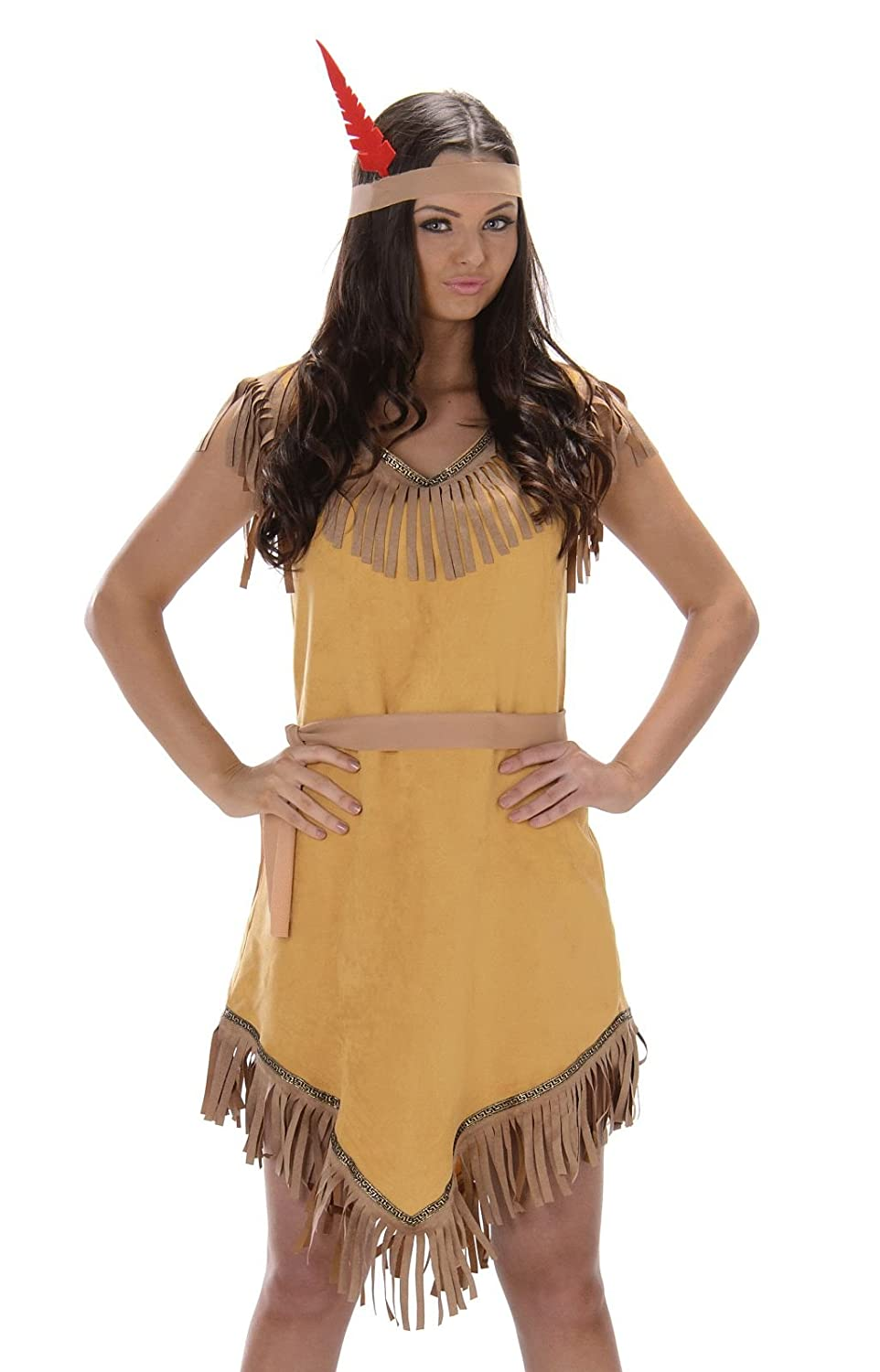 Karnival- Indian Girl Costume Disfraz, Color marrón, small (81048 ...