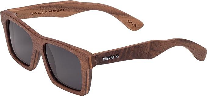 Wood Fellas Unisex Holz-Sonnenbrille Viktualien walnut/grey One yEzEswCtS