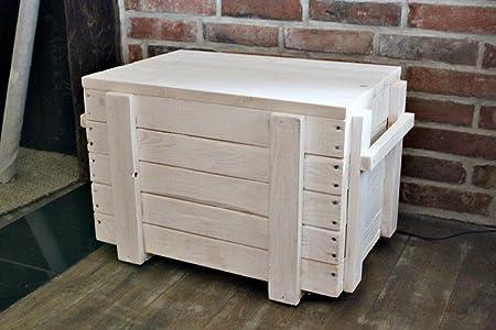 Asiento – Baúl de mesa Madera Caja Caja sofá mesa Salón cajón multiusos Madera: Amazon.es: Hogar