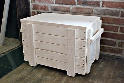 Asiento – Baúl de mesa Madera Caja Caja sofá mesa Salón cajón multiusos Madera
