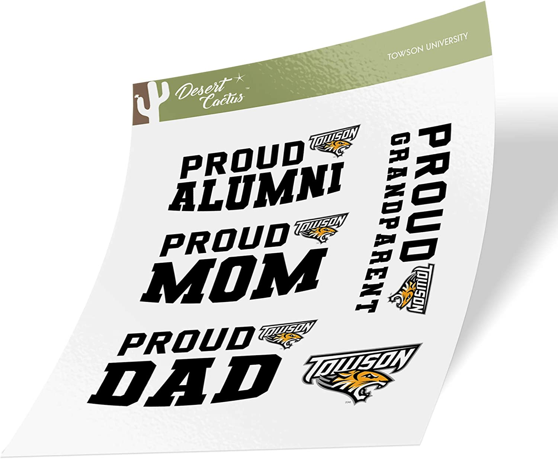 Towson University TU Tigers NCAA Sticker Vinyl Decal Laptop Water Bottle Car Scrapbook (Family Full Sheet)