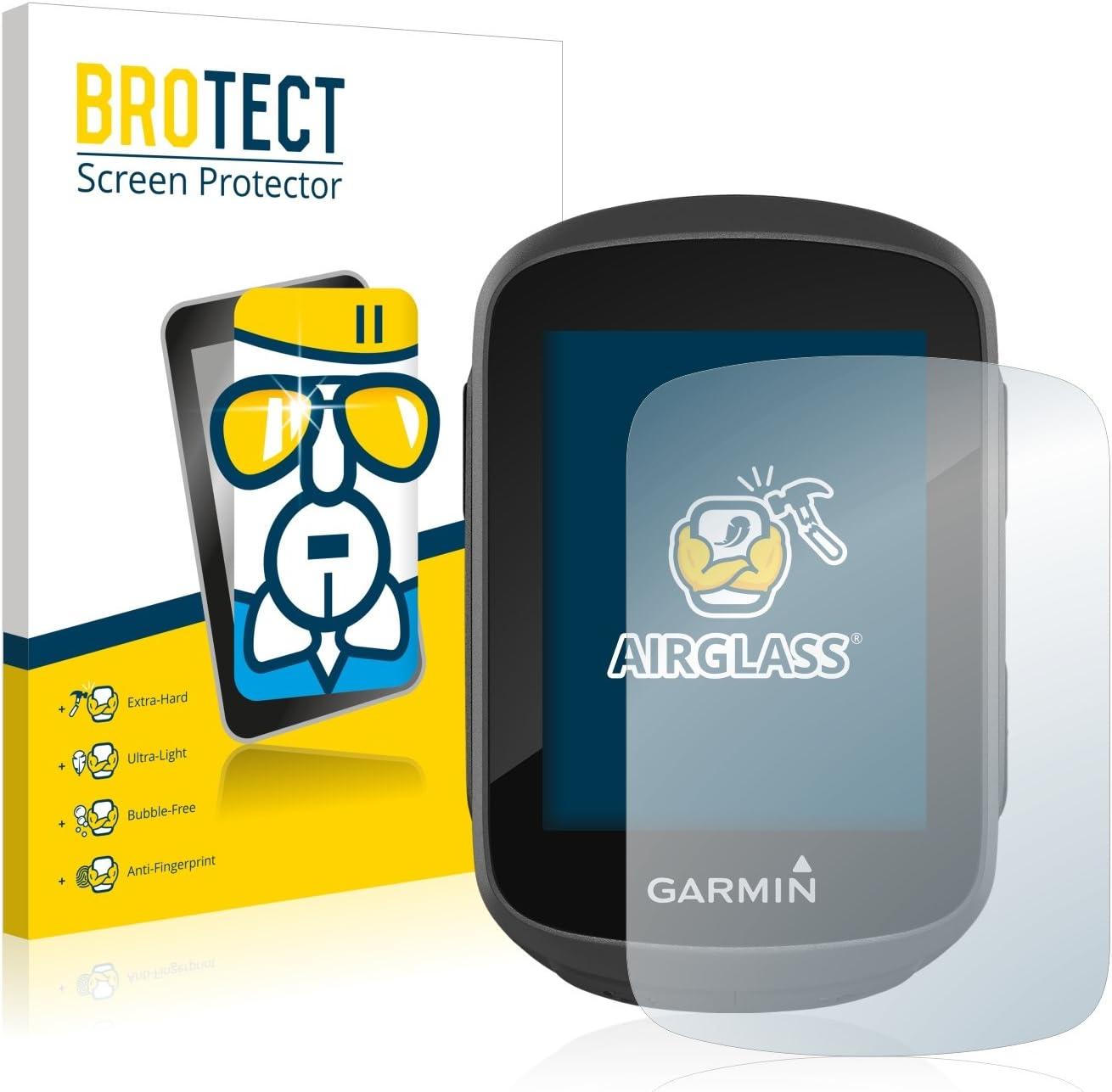 brotect Pellicola Protettiva Vetro Compatibile con Garmin Edge 130 AirGlass Schermo Protezione Durezza 9H Anti-Impronte 3 Pezzi