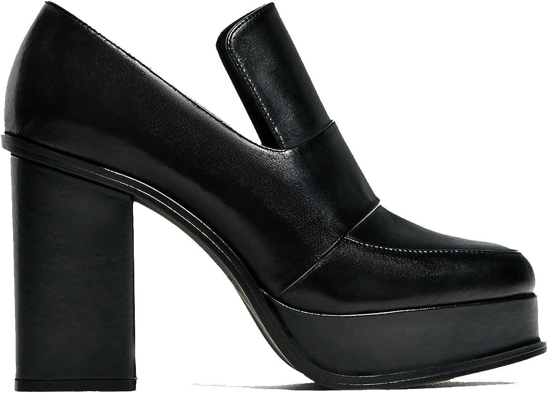 Zara Women's High heel leather platform