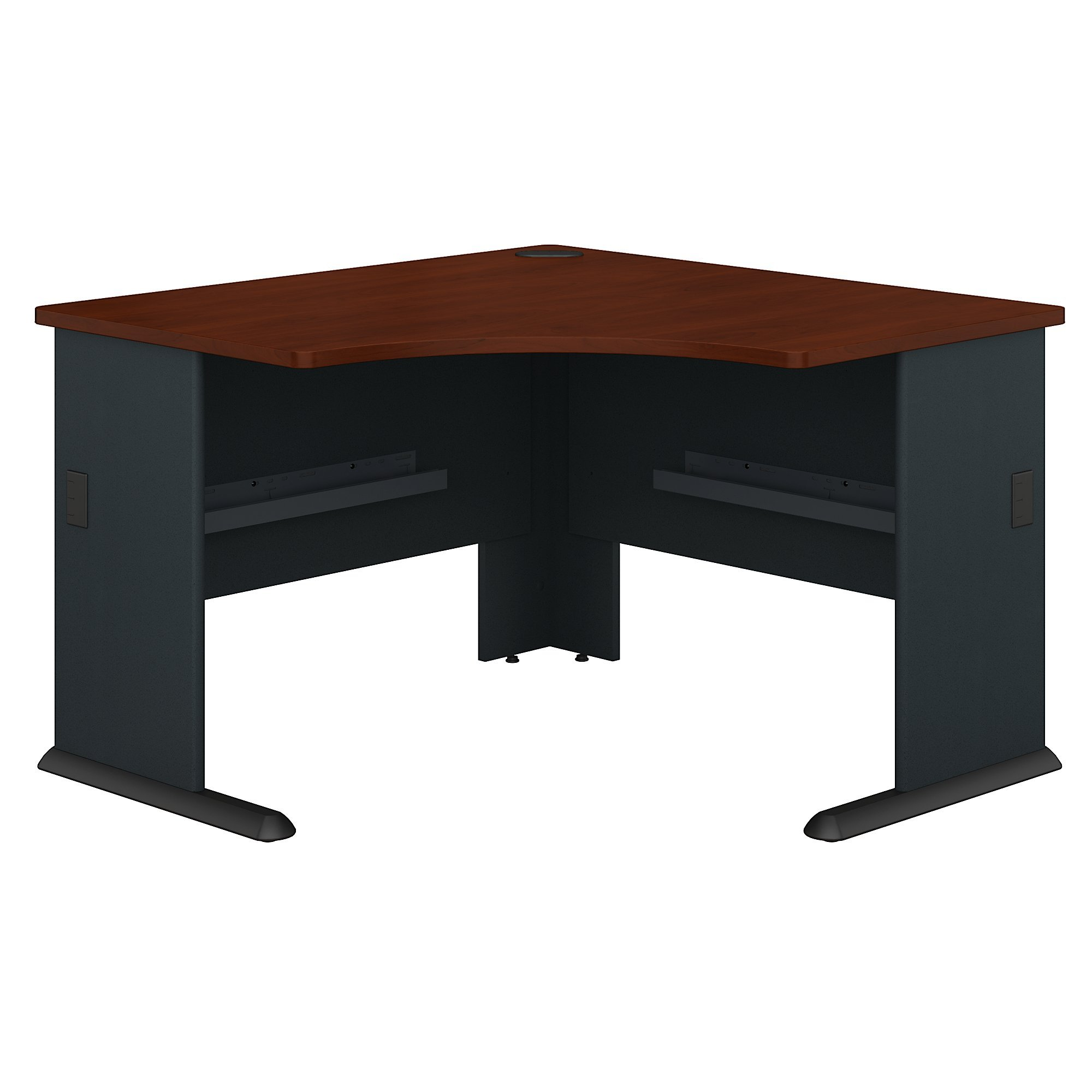 Bush Business Furniture Series A 48W Corner Desk in Hansen Cherry and Galaxy by Bush Business Furniture