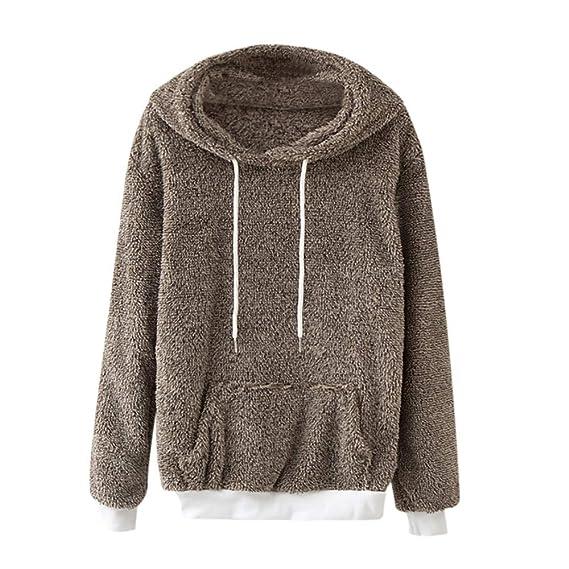 Luckycat Sudadera con Capucha de Mujer Abrigo de Invierno cálido Abrigo de algodón de Lana con