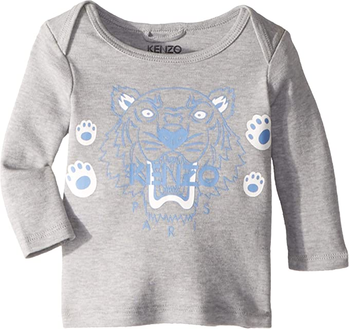 a9e71c141 Kenzo Kids Baby Boy's Tiger T-Shirt (Infant) Marl Grey 3 Months