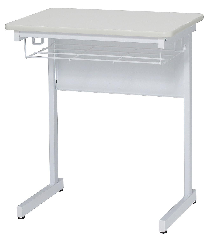 学習机 ソフトエッジ加工 棚フック付き スクールデスク セミナーデスク 研修デスク 学習デスク GD-593 (WH:ホワイト) B01BTSLSNE  WH:ホワイト