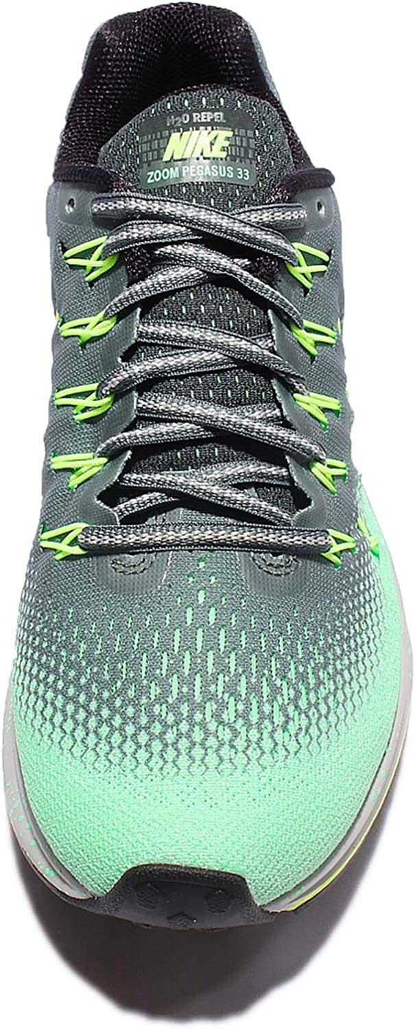 Nike Air Zoom Pegasus 33 Shield 849567-300 - Zapatillas de running, Mujer, Varios colores (Hasta / Mtlc Red Bronze / Green Glow), 43 EU: Amazon.es: Zapatos y complementos