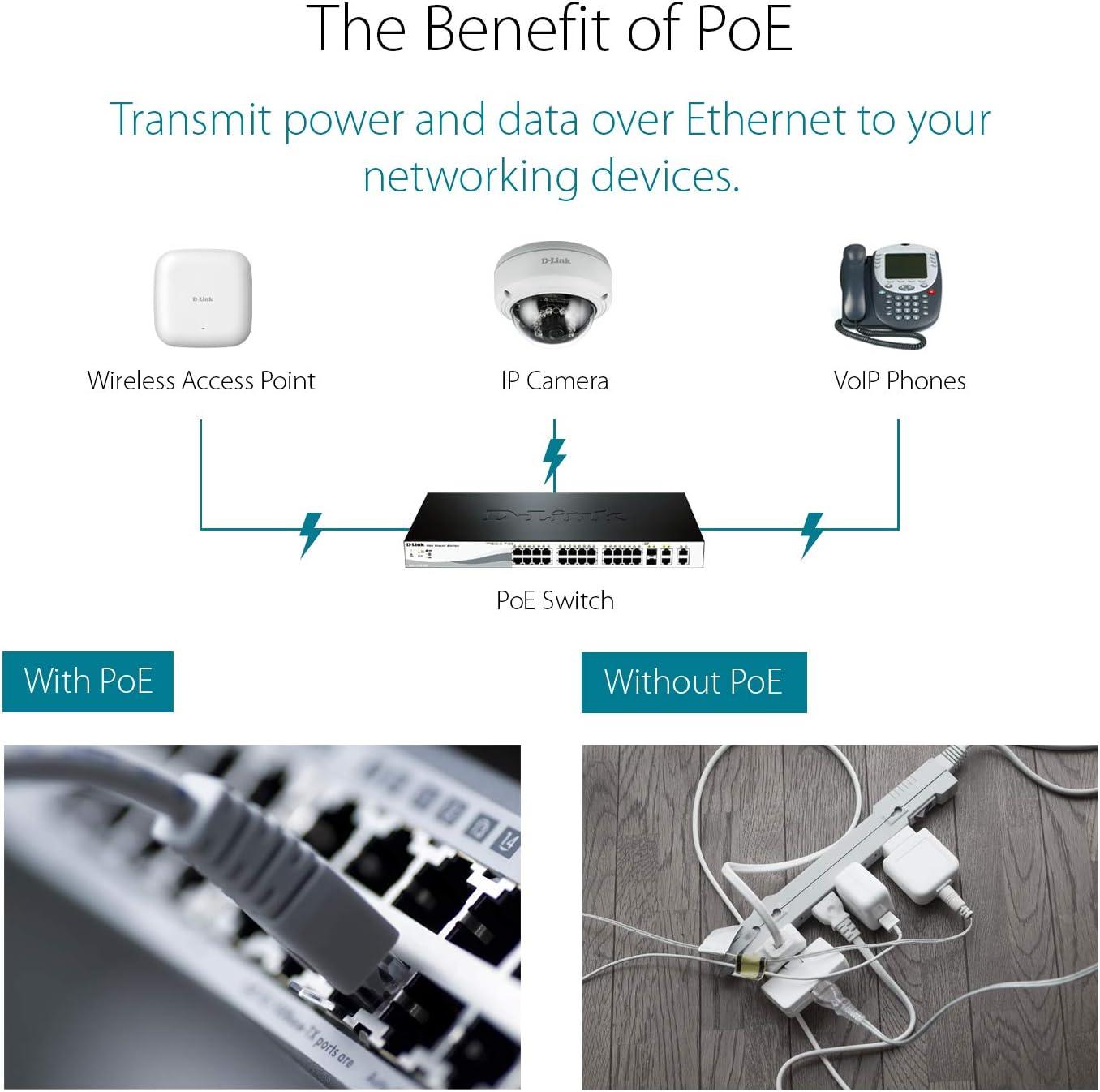 D-Link DaP-2660 - Punto de Acceso PoE WiFi Ac1200 Dual Band para Interior (802.11ac Hasta 1200 Mbps), Puerto Gigabit 1000 Mbps, WPA2 Enterprise, ...