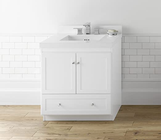 RONBOW Shaker 30 Inch Bathroom Vanity Base Cabinet with Soft ...