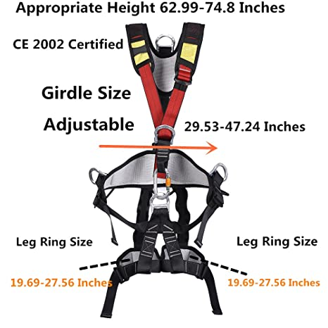 Safety Rock Climbing Fall Protection Full Body Harness Kids Professional Belt
