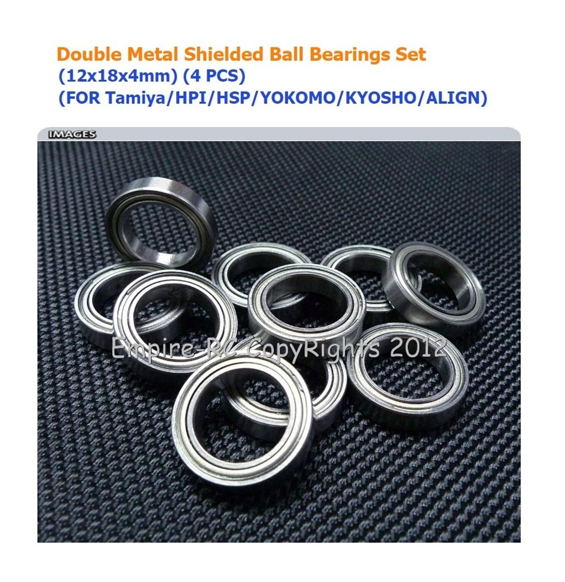 12x18x4mm 6701ZZ Metal Shielded Ball Bearing Bearings 6701z 4 PCS