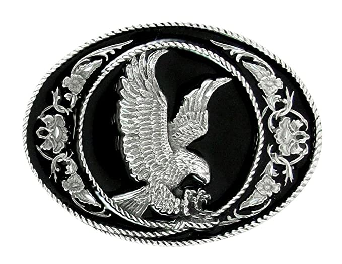 f96cf565dfbf2 Image Unavailable. Image not available for. Color: Pewter Belt Buckle -  Eagle (Diamond ...