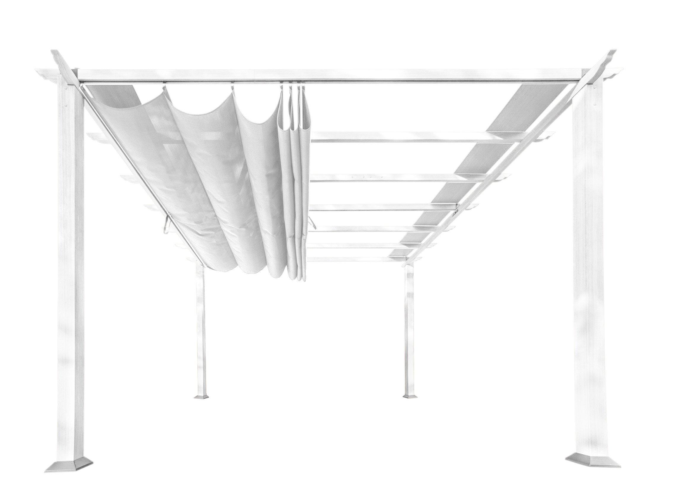 Paragon Outdoor PR11WTW Backyard Structure Soft Top with White Frame Aspen Pergola, 11' x 11', Off