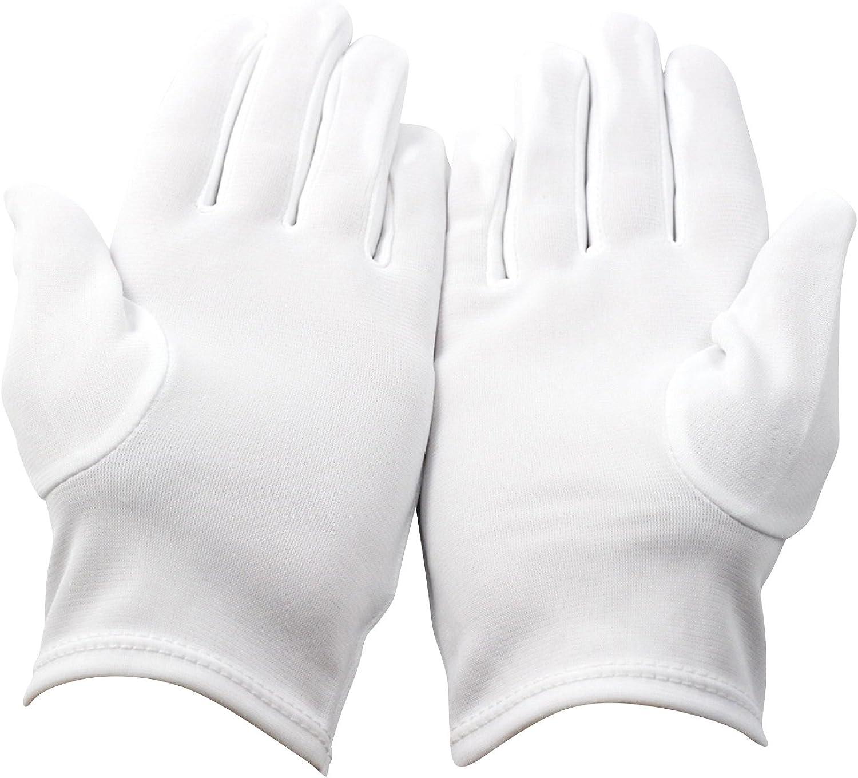 gant coton blanc /épais francs macons broderie accacia 7.5