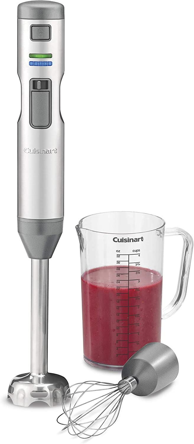 Cuisinart CSB-400CD Cordless and Rechargeable SmartStick hand blender, One Size, Silver